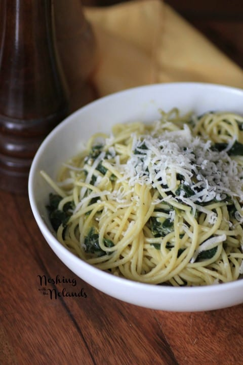 Spaghetti with Spinach and Lemon Sauce by Noshing With The Nolands (2) (Small)