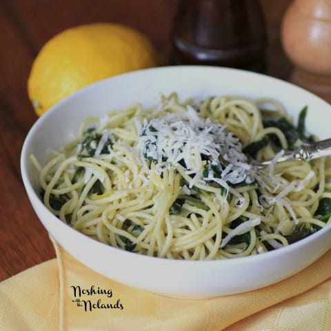 Spaghetti with Spinach and Lemon Sauce by Noshing With The Nolands (3) (Small) (2)