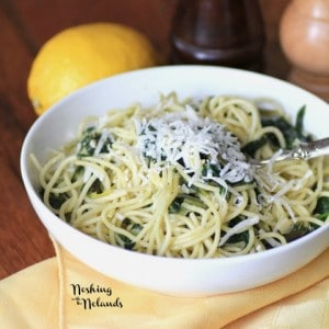 Spaghetti with Spinach and Lemon Sauce by Noshing With The Nolands (3) (Small)