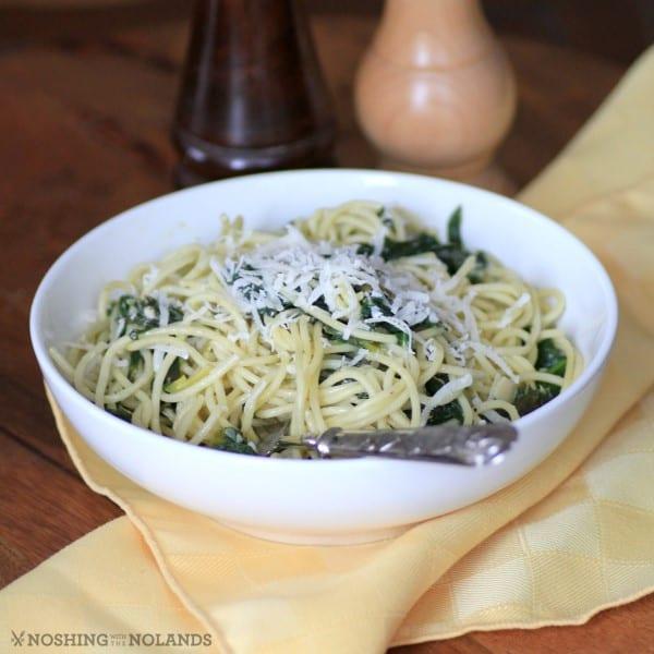 Spaghetti with Arugula and Lemon Sauce