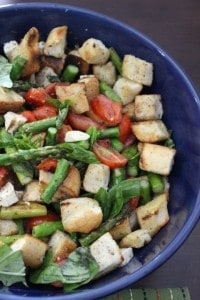 Grilled Asparagus Panzanella by The Texan New Yorker
