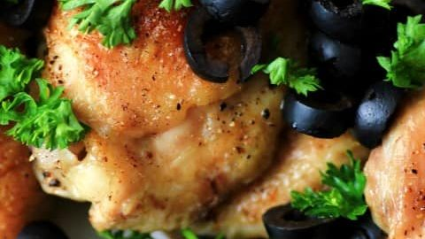 Chicken with Olives for 5 Ingredients of Less #SundaySupper