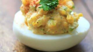 Egg Salad Deviled Eggs for Easter/Passover Feast #SundaySupper