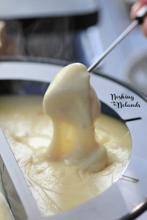 Emmentaler-Gruyere Fondue with Roasted Garlic by Noshing With The Nolands