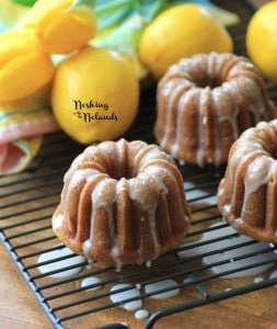 Mini Lemon Spring Bundts for #BundtBakers