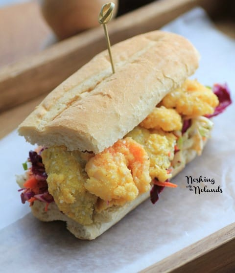 Shrimp and Artichoke Hearts Po' Boy by Noshing With The Nolands