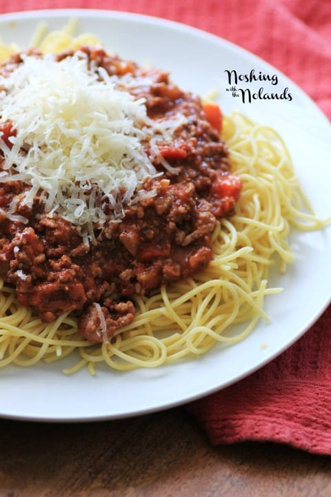 Slow Cooker Spaghetti Bolognese by Noshing With The Nolands
