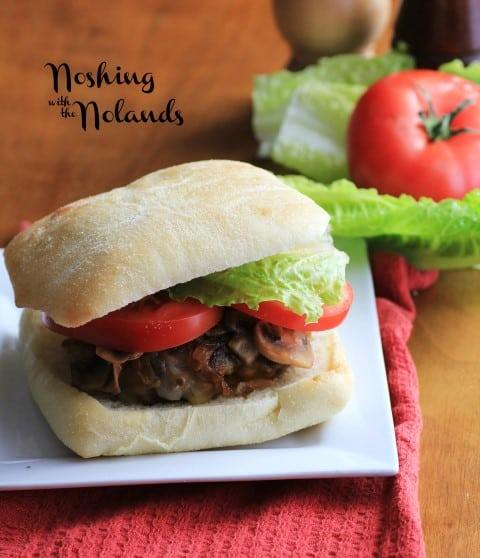 Caramelized Onion Mushroom Cheeseburger by Noshing With The Nolands
