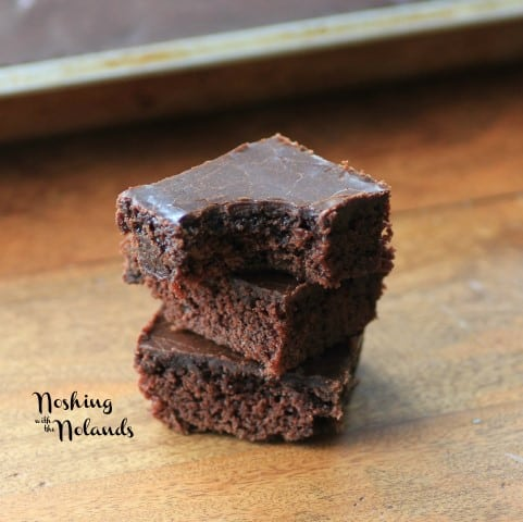Easy Fudgy Snack Cake by Noshing With The Nolands