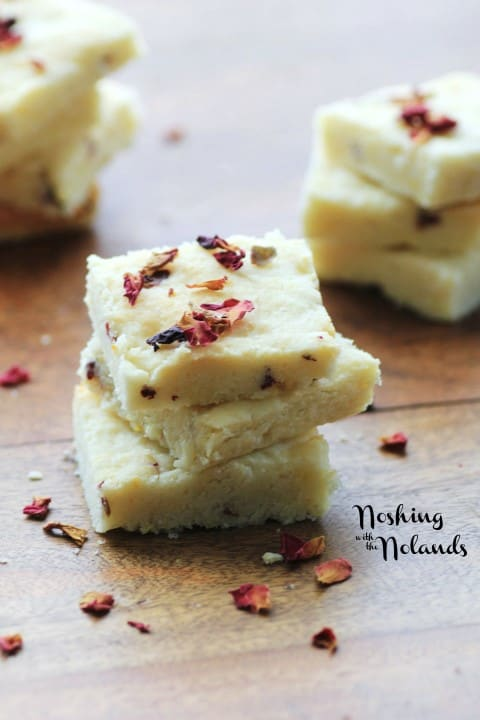 Lemon Persian Rose Shortbread by Noshing With The Nolands