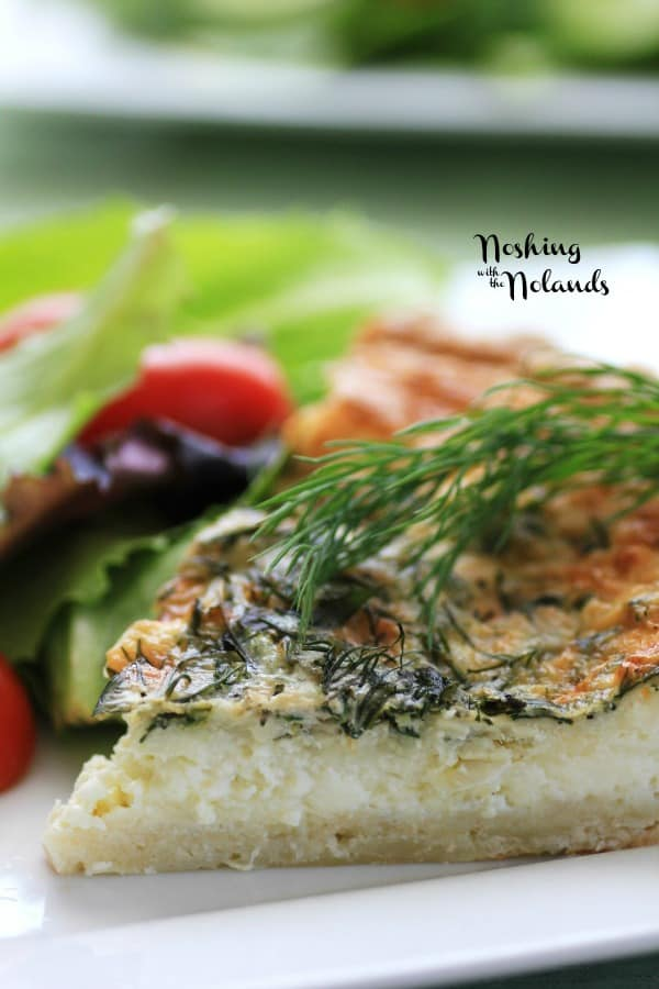 Spring Herbed Brie Quiche by Noshing With The Nolands