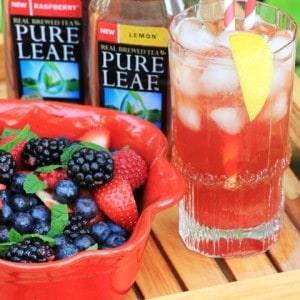 Feasting in a Garden Oasis with Pure Leaf Iced Tea