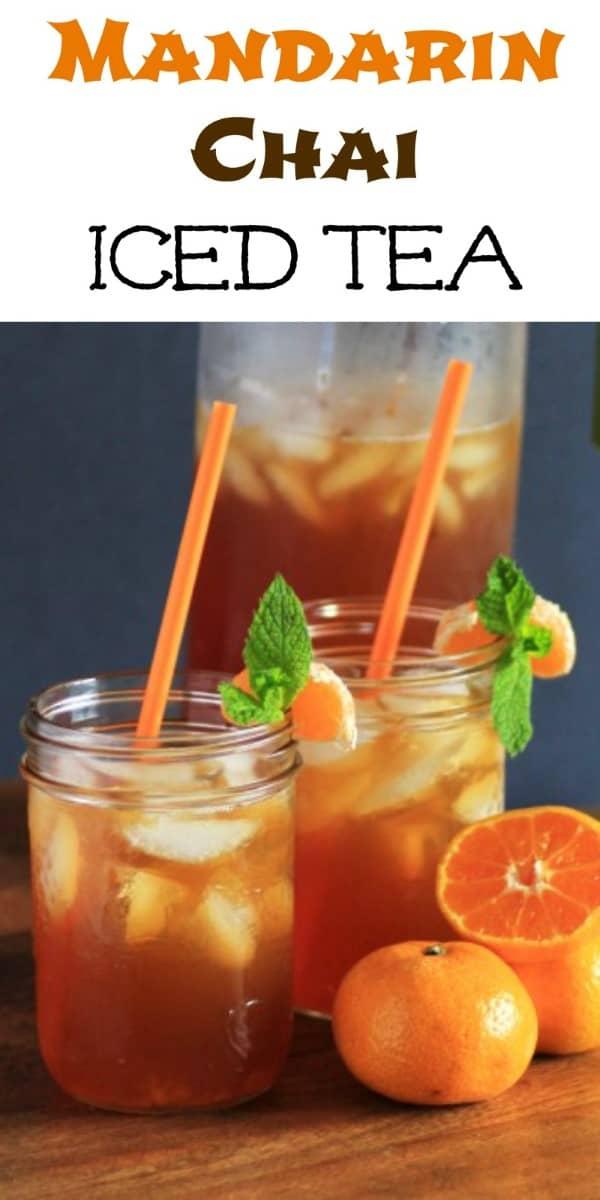 Mandarin Chai Iced Tea Collage (Custom)