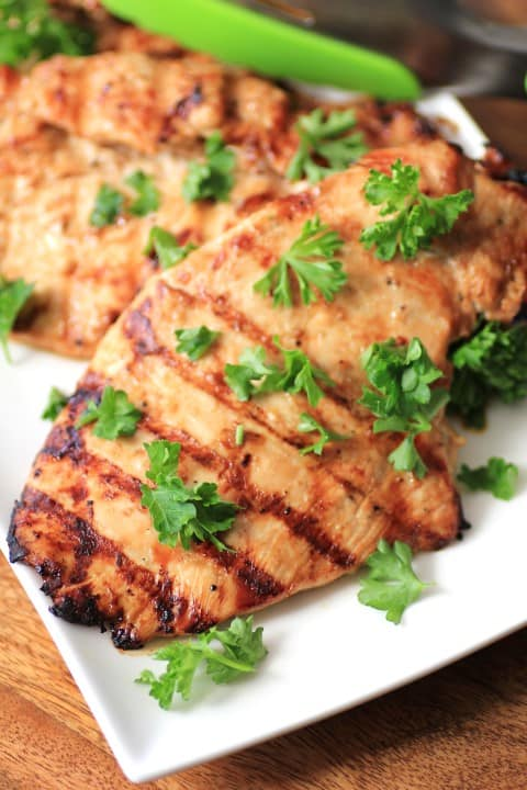 Simply Dressed Grilled Chicken
