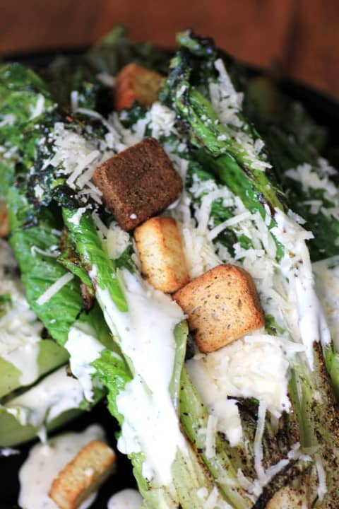 Simply Dressed Grilled Romaine Salad by Noshing With The Nolands
