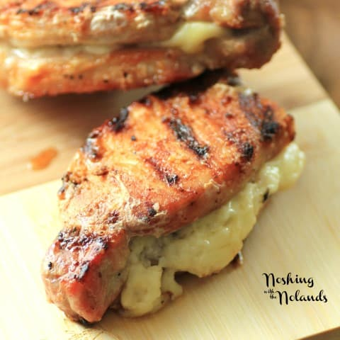 Hickory Salt Asiago Stuffed Pork Chops by Noshing With The Nolands