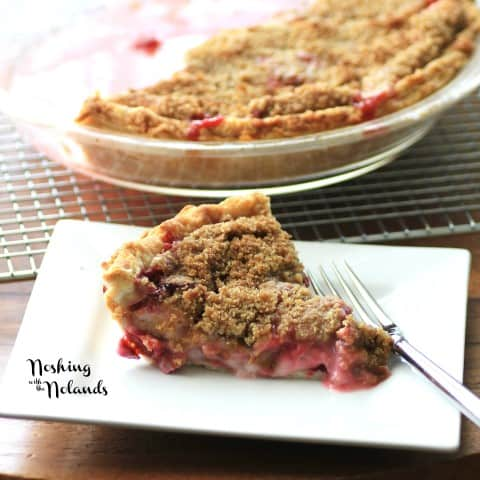 Rhubarb Strawberry Sour Cream Pie by Noshing With The Nolands (2) (Small)