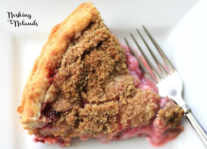 Rhubarb Strawberry Sour Cream Pie by Noshing With The Nolands (Small)