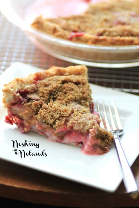 Rhubarby Strawberry Sour Cream Pie by Noshing With The Nolands