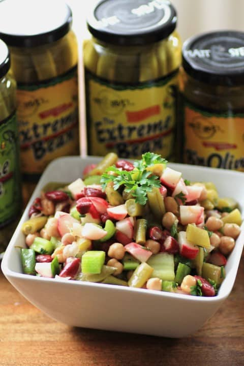 Sweet and Savoury Three Bean Salad by Noshing With The Nolands