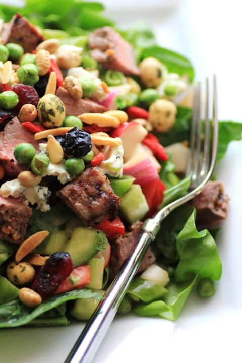 Chopped Steak Salad by Noshing With The Nolands