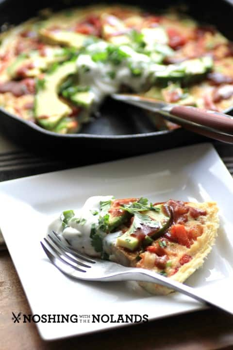 Enchilada Frittata by Noshing With The Nolands