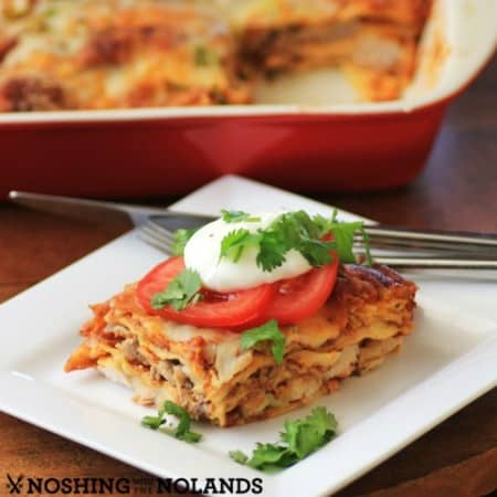 Leftover Turkey, Sausage Enchilada by Noshing With The Nolands (2) (Small)