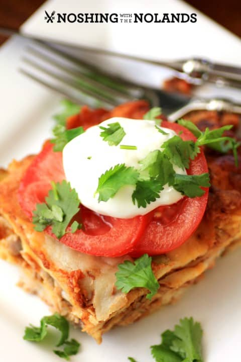 Leftover Turkey, Sausage Enchilada by Noshing With The Nolands