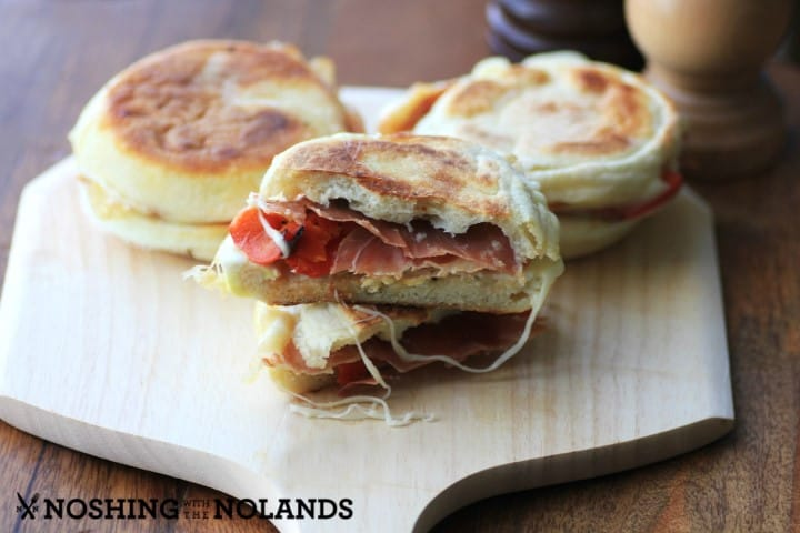 Prosciutto Roasted Pepper Breakfast Sandwich by Noshing With The Nolands