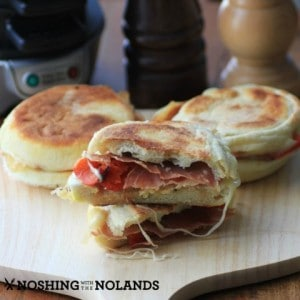Prosciutto Roasted Pepper Breakfast Sandwich