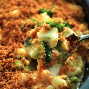 Broccoli Cauliflower Cheese Bake