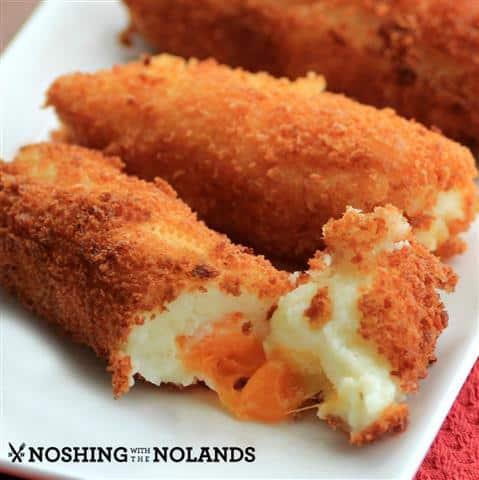 Cheesy Mashed Potato Croquettes #SundaySupper