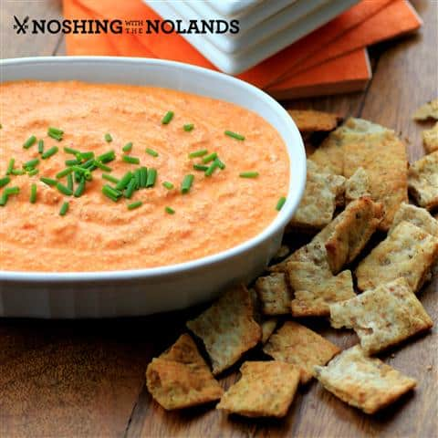 Feta and Roasted Red Pepper Dip by Noshing With The Nolands