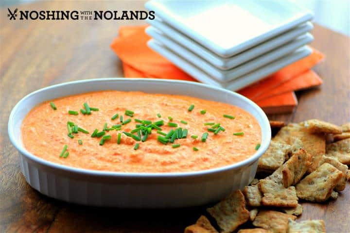 Feta and Roasted Red Pepper Dip by Noshing WithThe Nolands