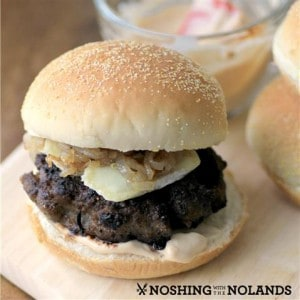 Maple Bison Blueberry Burgers #SundaySupper