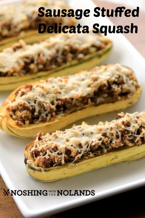 Sausage Stuffed Delicata Squash by Noshing With The Nolands