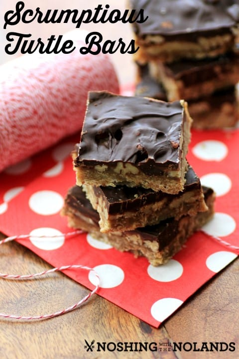 Scrumptious Turtle Bars by Noshing With The Nolands