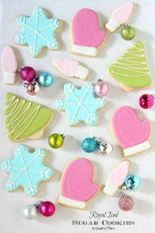 Royal Iced Sugar Cookies by Spoonful of Flavor