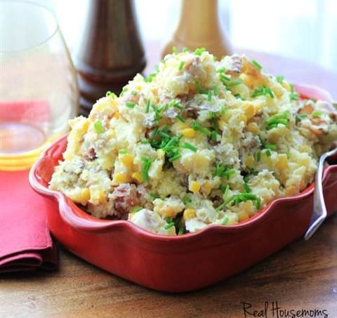 Warm Bacon Corn Smashed Potato Salad by Noshing With The Nolands (5) (Small)