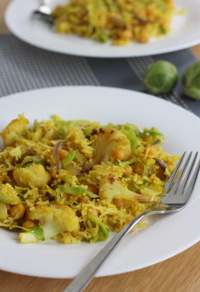 Brussels sprout and cauliflower pilaf by Amuse Your Bouche