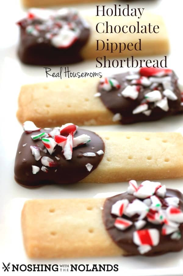 Holiday Chocolate Dipped Shortbread by Noshing With The Nolands