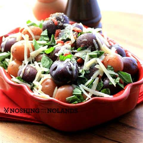 Little Potatoes with Basil and Roasted Red Peppers by Noshing With The Nolands