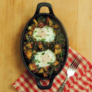 Potato Hash with Spinach and Roasted Red Peppers – Bobbi's Kozy Kitchen