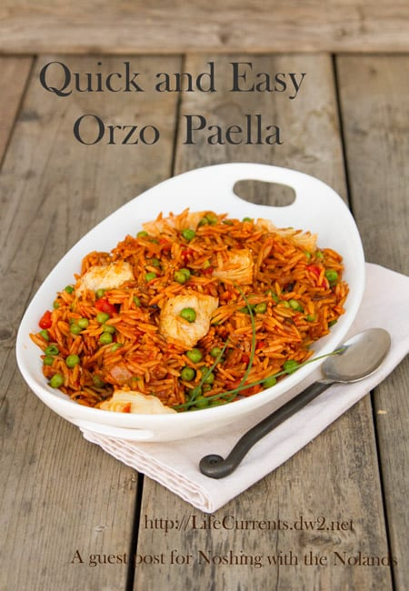 Quick and Easy Orzo Paella by Life Currents