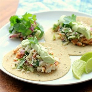 Avocado Cream Slaw Fish Tacos by Noshing With The Nolands (2) (Small)