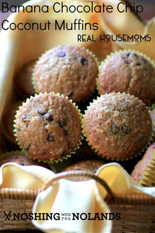 Banana Chocolate Chip Coconut Muffins by Noshing With The Nolands