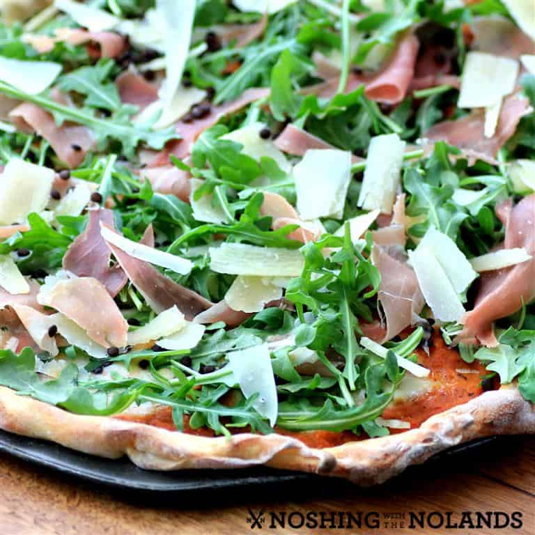 Lentil Prosciutto Parmesan Pizza by Noshing With The Nolands