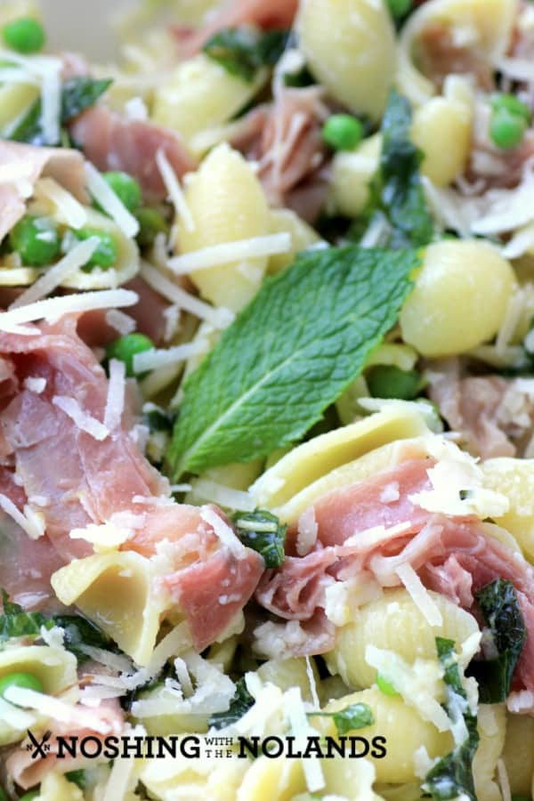 Pasta with Proscuitto, Peas, Mint and Lemon by Noshing With The ...