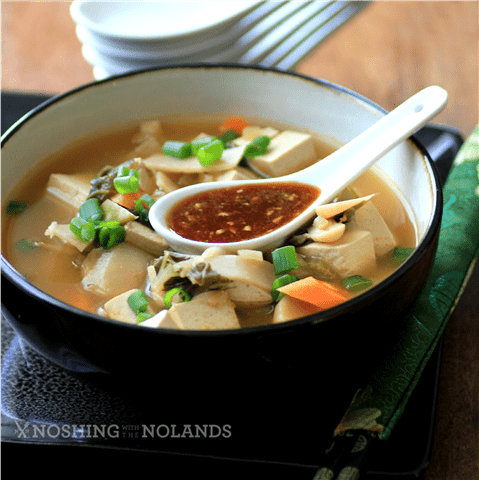 Vegan Crockpot Chinese Hot Pot by Noshing With The Nolands