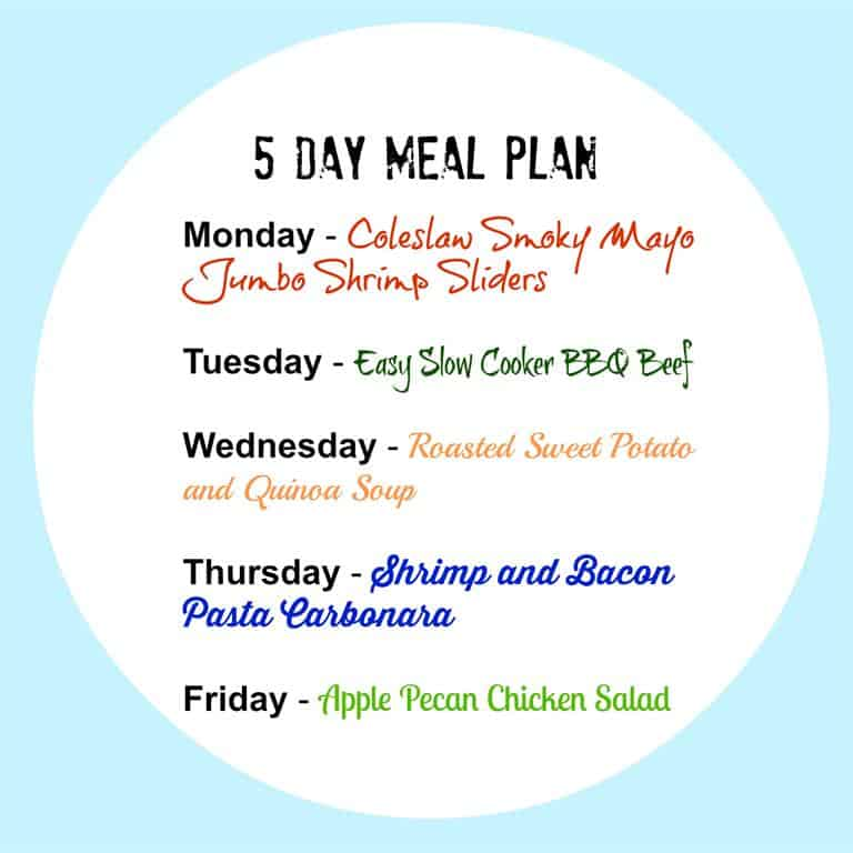 5 Day Meal Plan by Noshing With The Nolands